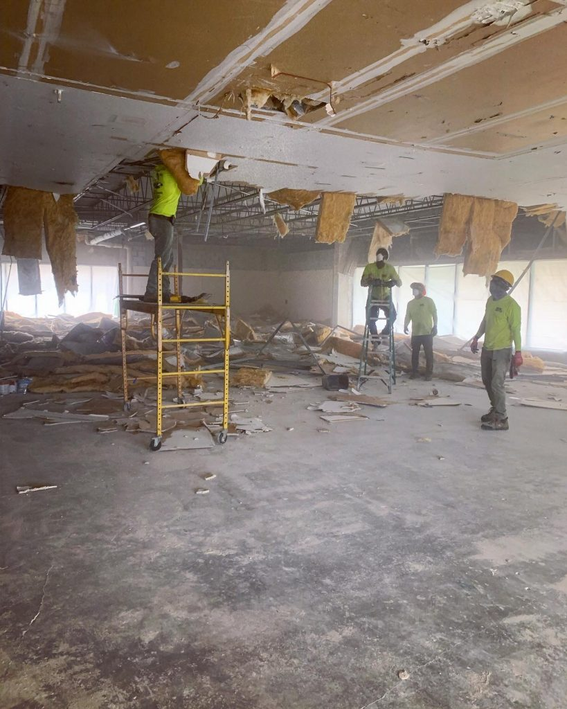 Interior Demolition team